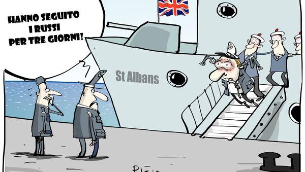 Nave militare britannica ha seguito fregata russa nel Mare del Nord - Sputnik Italia