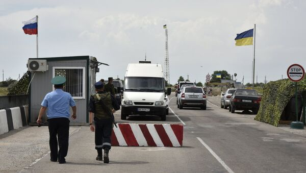 Border crossing point on Russia-Ukraine border. File photo - Sputnik Italia
