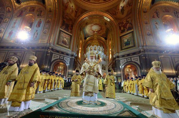 Il patriarca di Mosca e tutte le Russie Kirill durante la Messa di Natale nella Cattedrale di Cristo Salvatore a Mosca. - Sputnik Italia