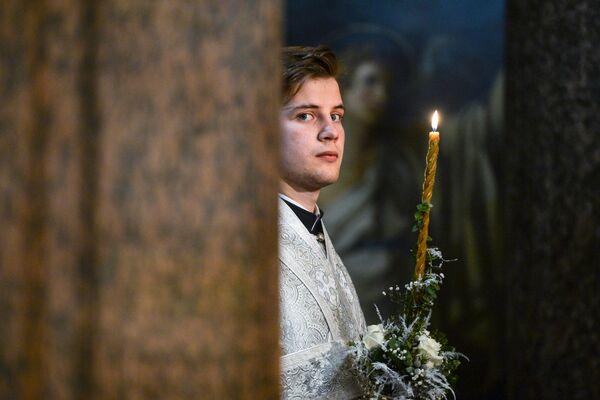 La Messa di Natale nella Cattedrale di Kazan a San Pietroburgo. - Sputnik Italia
