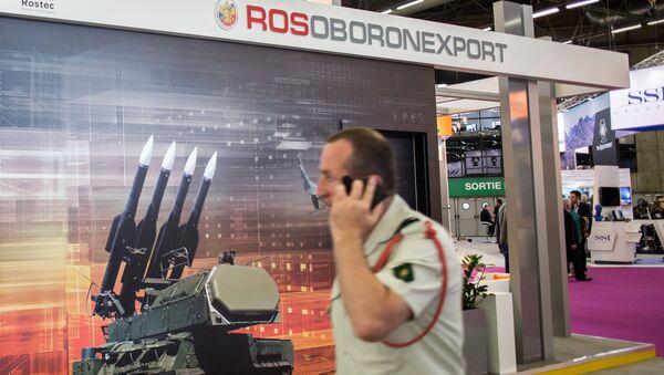 The Rosoboronexport stand at the EUROSATORY international defense exhibition in Paris - Sputnik Italia