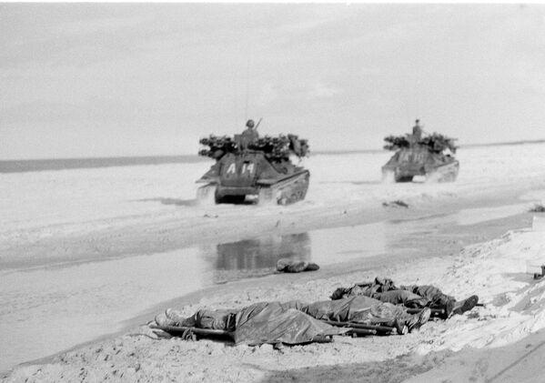 Тела погибших морских пехотинцев США. Война во Вьетнаме, 1967 год - Sputnik Italia