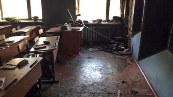 La classe della scuola nell'insediamento di Sosnovy Bor a Ulan-Ude, Russia, dov'è avvenuto l'attacco. - Sputnik Italia
