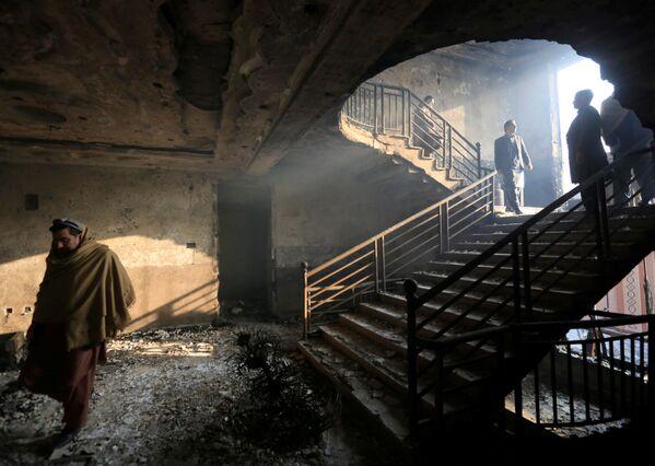 In un edificio distrutto a causa dell'esplosione a Jalalabad, Afghanistan. - Sputnik Italia