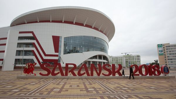 The 2018 FIFA World Cup installation on Millennium Square in Saransk - Sputnik Italia
