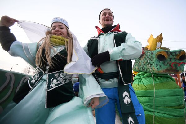 La gara di slitte estreme SunnyFest a Kazan - Sputnik Italia