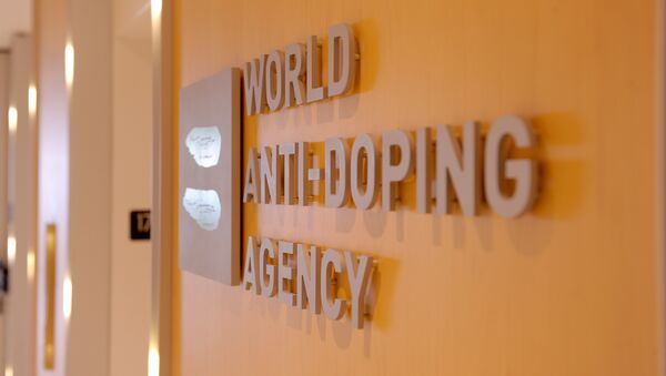 Picture of the logo of World Anti-Doping Agency (WADA)taken on September 20, 2016 at the headquarter of the organisation in Montreal. - Sputnik Italia