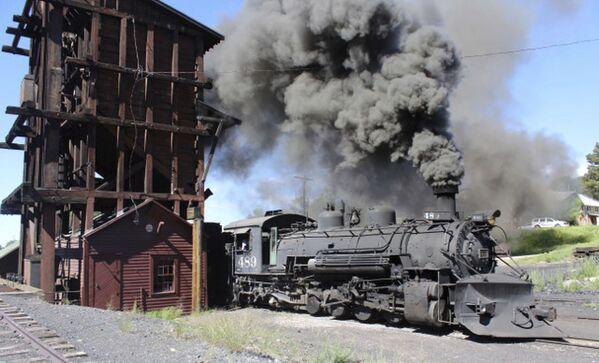 Una locomotiva a vapore, Colorado. - Sputnik Italia