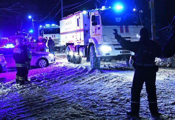 Secondo l'Agenzia federale del trasporto aereo, la comunicazione con l'equipaggio di volo An-148 Saratov Airlines' 703 da Mosca a Orsk è terminata pochi minuti dopo il decollo da Domodedovo, dopo di che il velivolo è scomparso dal radar. - Sputnik Italia
