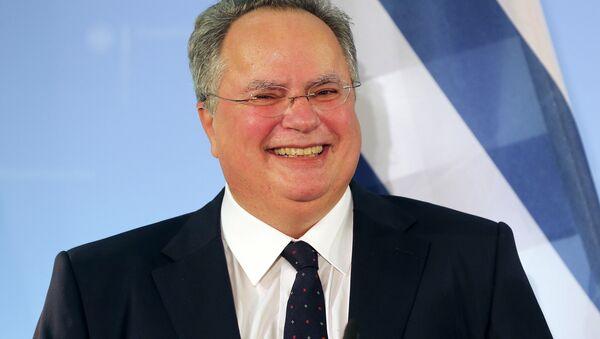 Il ministro degli Esteri greco Nikos Kotzias - Sputnik Italia