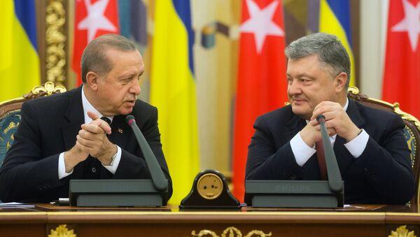 President of Turkey Recep Tayyip Erdogan (left) and President of Ukraine Petro Poroshenko during their meeting in Kiev - Sputnik Italia