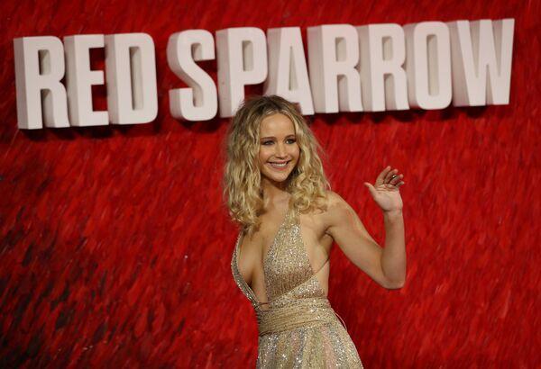 L'attrice Jennifer Lawrence arriva alla prima europea del Red Sparrow a Londra, Gran Bretagna. - Sputnik Italia