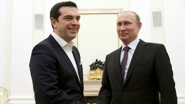 Alexis Tsipras e Vladimir Putin - Sputnik Italia