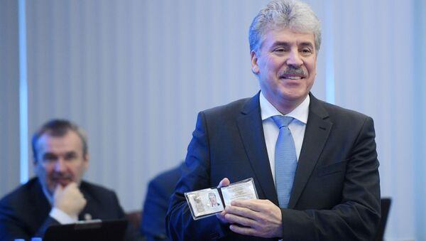 Il candidato alle presidenziali, Pavel Grudinin, Partito Comunista Russo - Sputnik Italia