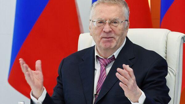 Il candidato alla presidenza, Vladimir Zhirinovsky, leader del Partito Liberal-Democratico di Russia (LDPR) - Sputnik Italia