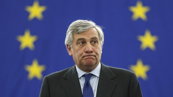 Antonio Tajani acknowledges applauses after being elected European Parliament President at the European Parliament in Strasbourg, in Strasbourg, eastern France, Tuesday, Jan. 17, 2017 - Sputnik Italia