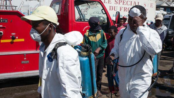 Санитарная обработка рынка в Антананариву, столице Мадагаскара - Sputnik Italia