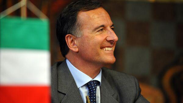 Franco Frattini. Foto fornita dall'Ufficio stampa SIOI - Sputnik Italia