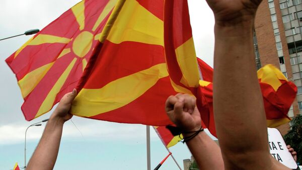 Proteste in Macedonia - Sputnik Italia
