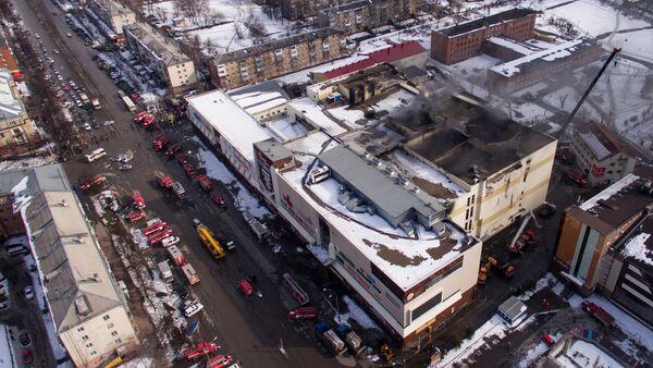 Fire at Zimnyaya Vishnya shopping mall in Kemerovo - Sputnik Italia