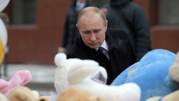 Vladimir Putin a Kemerovo - Sputnik Italia