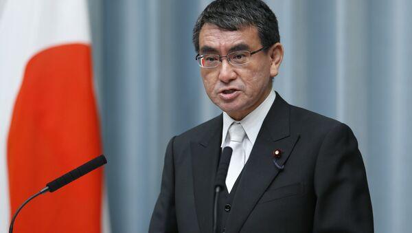Il Ministro degli esteri del Giappone Taro Kono - Sputnik Italia