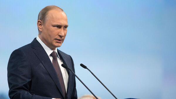 Президент России Владимир Путин на пленарногм заседании XIX Петербургского экономического форума - Sputnik Italia