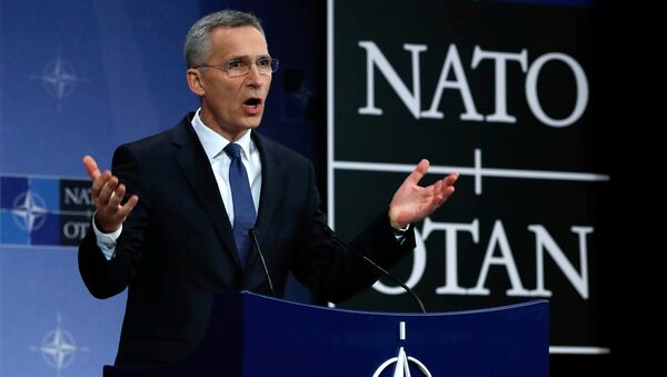 NATO Secretary-General Jens Stoltenberg addresses a news conference at the Alliance headquarters in Brussels, Belgium, March 15, 2018 - Sputnik Italia