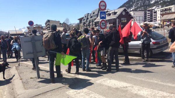 Dimostrazione degli antifascisti a Montgenèvre - Sputnik Italia