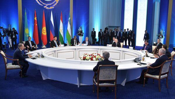 Una seduta dell'Organizzazione per la Cooperazione di Shanghai (foto d'archivio) - Sputnik Italia