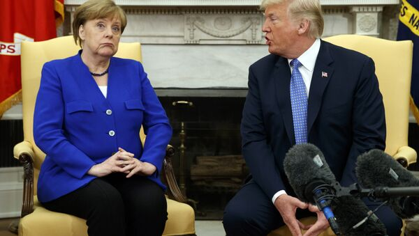 Incontro tra Angela Merkel e Donald Trump alla Casa Bianca - Sputnik Italia