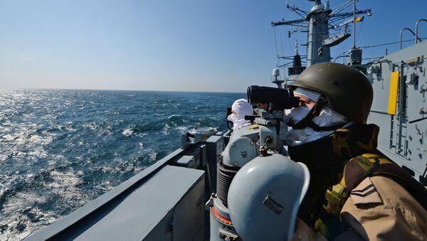 La fregata romena Regina Maria della NATO in esercitazione nel mar Nero (foto d'archivio) - Sputnik Italia