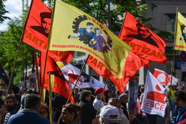 I partecipanti alle manifestazione del Primo Maggio a Berlino - Sputnik Italia