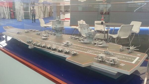 Model aircraft carrier project 23000E at the «Army 2015» - Sputnik Italia