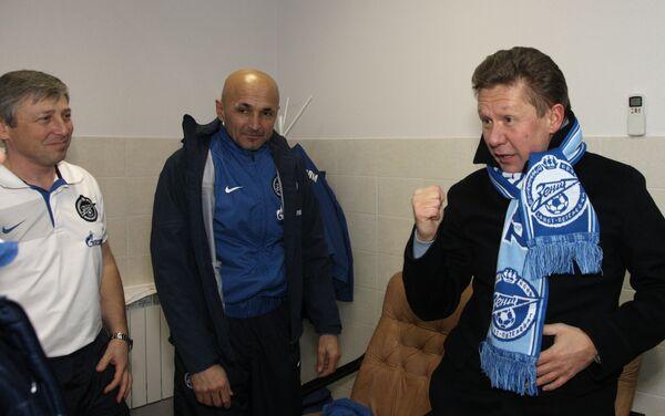 L'amministratore delegato di Gazprom Alexey Miller, insieme all'ex tecnico dello Zenit Luciano Spalletti - Sputnik Italia