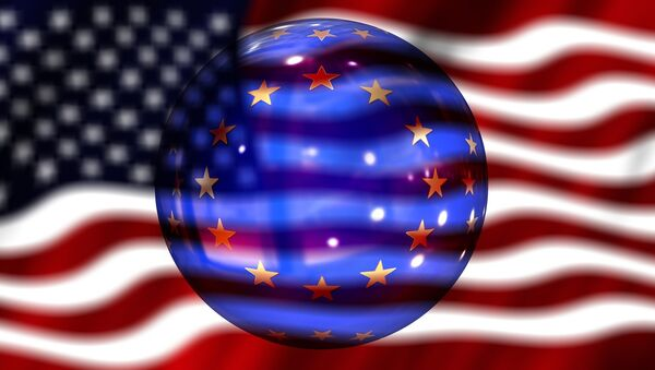 флаг сша и флаг ес - Sputnik Italia