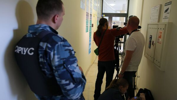 Alla sede dell'agenzia RIA Novosti Ucraina a Kiev - Sputnik Italia