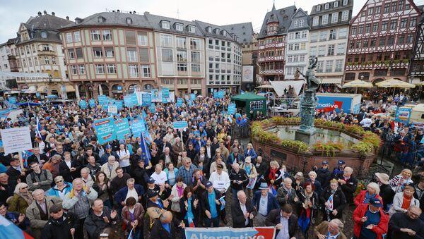 I sostenitori del partito anti-euro tedesco Alternativa per la Germania (foto d'archivio) - Sputnik Italia