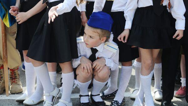 Una parata delle truppe di bambini a Rostov sul Don, Russia. - Sputnik Italia