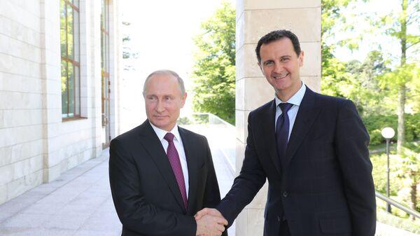 Il presidente russo Vladimir Putin e il presidente siriano Bashar al-Assad si sono incontrati a Sochi. - Sputnik Italia