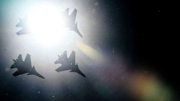 I caccia Su-30SM della pattuglia acrobatica Cavalieri Russi. - Sputnik Italia