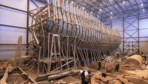 La costruzione della nave-museo Poltava a San Pietroburgo - Sputnik Italia