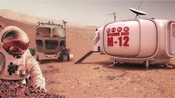 A self-deployable habitat can save crews valuable time in setting up quarters on faraway locales like Mars. - Sputnik Italia