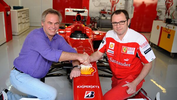 Il direttore di Kaspersky Lab, Yevgeny Kaspersky qui in una foto d'archivio con Stefano Domenicali della Ferrari - Sputnik Italia