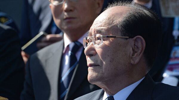 Kim Yong-nam, Chairman of the Presidium of the Supreme People's Assembly of the Democratic People's Republic of Korea, at the military parade to mark the 70th anniversary of Victory in the 1941-1945 Great Patriotic War - Sputnik Italia