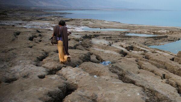 Авраам ходит по берегу Мертвого моря недалеко от Меццока Драго, Израиль, Западный берег - Sputnik Italia