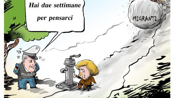 Il ministro degli Interni della Germania e leader dell'Unione Cristiano Sociale bavarese (Csu) Horst Seehofer ha fatto un ultimatum al cancelliere Angela Merkel sul problema dell'immigrazione clandestina - Sputnik Italia