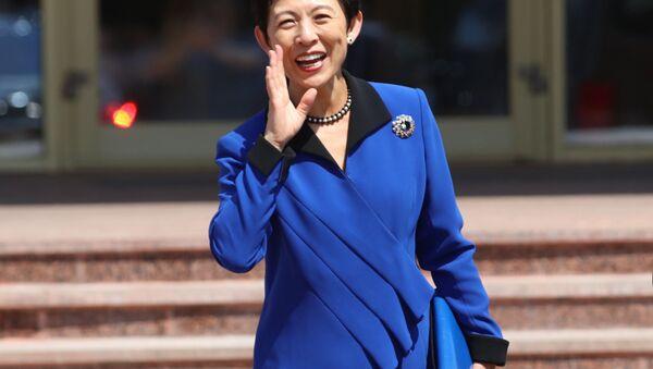 Japan's Princess Takamado leaves museum in Saransk, Russia June 19, 2018 - Sputnik Italia