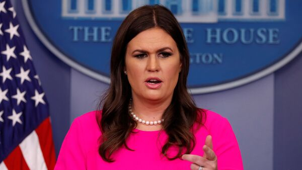 White House Press Secretary Sarah Huckabee Sanders holds the daily briefing at the White House in Washington, U.S - Sputnik Italia