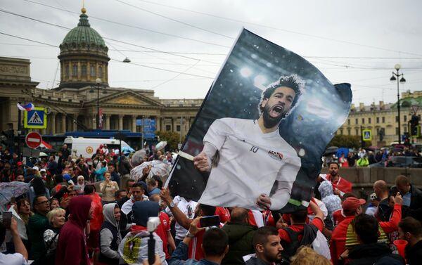 Tifosi egiziani nel centro di San Pietroburgo - Sputnik Italia